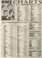 NME CHARTS PAGE FOR 27/12/1986 THE HOUSEMARTINS: CARAVAN 0F LOVE WAS NO.1