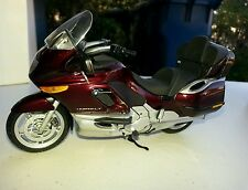 1/18 diecast BMW K 1200 LT motorcycle in burgandy color