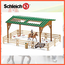 NEW SCHLEICH RIDING ARENA 42189 FARM LIFE HORSE EQUESTRIAN HAND PAINTED