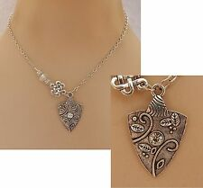 Silver Celtic Spear Head Pendant Necklace Jewelry Handmade NEW Fashion Chain
