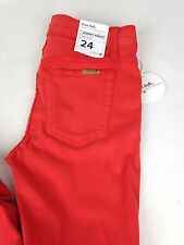 JOE'S JEANS Sooo Soft Mid Rise Legging Jeans in Coral/Red NWT $178  sz 24