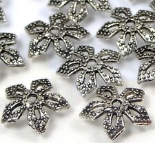25 Silver Pewter Filigree Bead Caps 11mm ~ Lead-Free ~