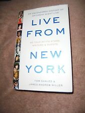 Live From New York History Saturday Night Live HC 1st First Edition Book SNL EUC