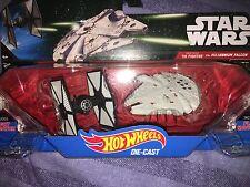Star Wars the force awakens Hot wheels tie fighter vs milennium falcon set