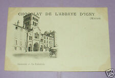 2563/ CPA PUBLICITAIRE CHOCOLAT DE L'ABBAYE D'IGNY MARNE - GRENOBLE CATHEDRALE