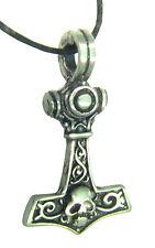 BUTW-  Thor's hammer Mjöllnir pewter pendant 1854B