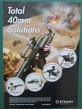 10/2007 PUB ST KINETICS 40MM PAYLOADS SYSTEMS GRENADE LAUNCHER ORIGINAL AD