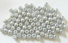 200 Glass Pearl Beads - 6mm - Silvery Grey