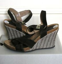 Brown Suede Leather Wedge Heel Sandals by Dr Scholl, UK 6/39