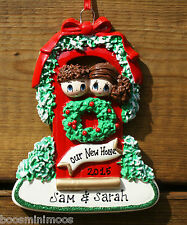 Personalised 1st christmas/xmas decoration - new home, new house, couple