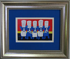 "FRAMED GEORGE RODRIGUE ""Heat in the Kitchen"" POSTCARD - 13"" x 11"""