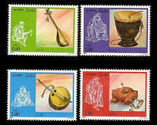 ALGERIA. Native musical instruments. 1984. Scott 748-751. MNH (1)