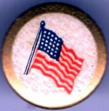 1918 pin WWI homefront pinback US FLAG button Manufacturers National BANK