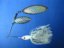 3/4 oz Spinnerbait ( Solid White ) T34oz-920