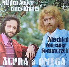 """7"""" 1971 ALPHA & OMEGA Mit den Augen eines Kindes MINT-?"""