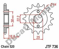Ducati Monster 696 08-11 14 tooth steel JT front sprocket NEW JTF736.14