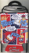 The Simpsons Duffman Character Collage Beer Huggie Can Cooler 2-Sided NEW UNUSED