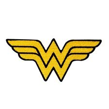 Wonder Woman Symbol Patch Superhero Costume Emblem DC Comics Iron-On Applique