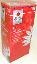 Home Accents 50 Mini Incandescent Light Tring Clear Holiday Christmas Decoration