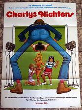 KLAUS DILL-GRAFIK * CHARLYS NICHTEN - A1-Filmposter EA -1974 E. Volkmann KULT