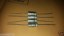 4x NOS SIEMENS SIKOREL B41590 100uf 16v 125C AX EXTREME HI-END AUDIO CAPACITORS!
