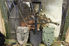 AIMES ENTRENCHING TOOL WITH 2 CARRIERS ACU AND GREEN USED IN VGC SHAPE SEE PICS
