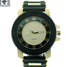MENS ICED OUT  ICE NATION /CAPTAIN BLING WATCH WITH BULLET BAND #2551 BRAND NEW