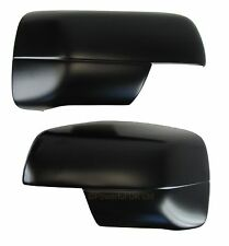 Satin BLACK painted door wing MIRROR COVERS for Land Rover Discovery 3 LR3 Matt
