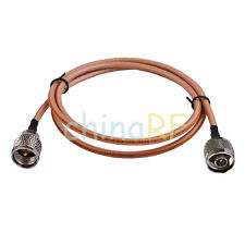 "8"" N-Type Male plug to MINI UHF male adapter Coaxial pigtail cable RG142 20cm"