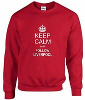 KEEP CALM AND FOLLOW LIVERPOOL FAN SWEATSHIRT KIDS