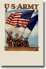US Army - NEW Vintage Military WW2 Era Reproduction Art Print POSTER