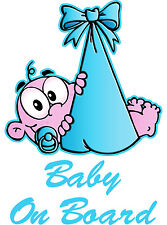 Baby BOY On Board Vinyl Decal SIZE 214 MM BY 303 MM APR. GLOSS LAMINATED
