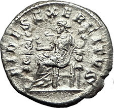 ELAGABALUS 218AD Authentic Genuine Ancient Silver Roman Coin FIDES TRUST i59041