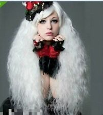 Hot Sell New Sexy Cos white Hot plasma long curly cosplay wig !!!