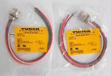 "(3) Turck RSF 56-0.3M Minifast 7/8"" Receptacles Fnt Mount ½-14 NPSM Thread 5-pin"