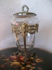 AUTHENTIC FRENCH 19TH CENTURY CHOCOLATERIE MAGASIN DISPLAY COVERED JAR C1888