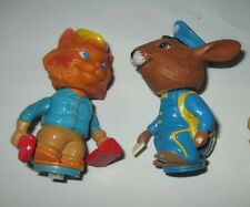 Vintage Figures, Mattel, 1975, Postman Bunny, Handyman Cat, lot of 2