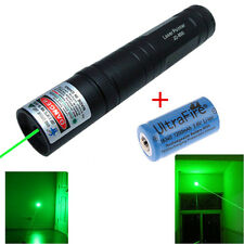 Military 5 Miles Green 1MW 532nm Laser Pointer Pen Light Visible Beam + Battery