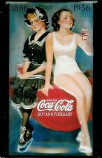 Placa Señal De Pared Acero En Relieve Coca Cola Bathing Beauties Hi 3020