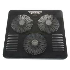 "LED USB 3 Fans Air Cooling Cooler Pad Iron Net Stand for 12"" to 15.4"" Laptop"