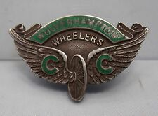WOLVERHAMPTON WHEELERS BICYCLE CLUB FOUNDED 1891 ANTIQUE ENAMEL CYCLING BADGE
