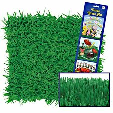 GREEN TISSUE PAPER GRASS MATS PLACEMATS SPORTS EASTER PARTY PHOTO PROP PKT 2