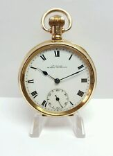FINLAY BISHOP AUCKLAND 10CT GOLD FILLED POCKET WATCH MINT MOVEMENT # 437088