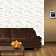 3D Wall Panel Breaker Wave 12 Tile 32sqft Paintable Home Decoration EcoFriendly