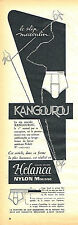PUBLICITE ADVERTISING 015  1955  KANGOUROU  slips sous vetements HELANCA