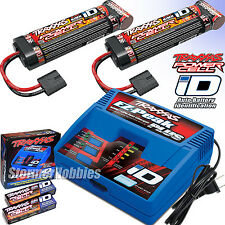 Traxxas EZ-Peak LiPo NiMH iD Charger 2970 w/Two 8.4v 3000mAh NiMH Battery 2923X