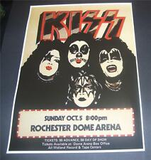 Kiss concert poster Rochester Dome Arena 1975  A3 size repro
