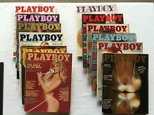 Lot of 12 - 1982 Playboys (JANUARY to DECEMBER)