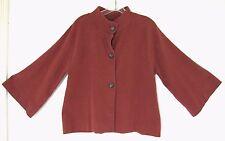 BANANA REPUBLIC Women's Barn Jacket Cotton Stretch Button Down L Kimono Sleeve