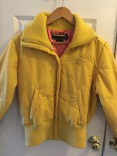 WOMENS ROCAWEAR  ZIP FRONT GOLD SIGNATURE STRETCH L/S SZ Med Yellow GOLD JACKET